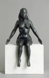 Sphinx nude female sitting bronze sculpture by Christopher Smith